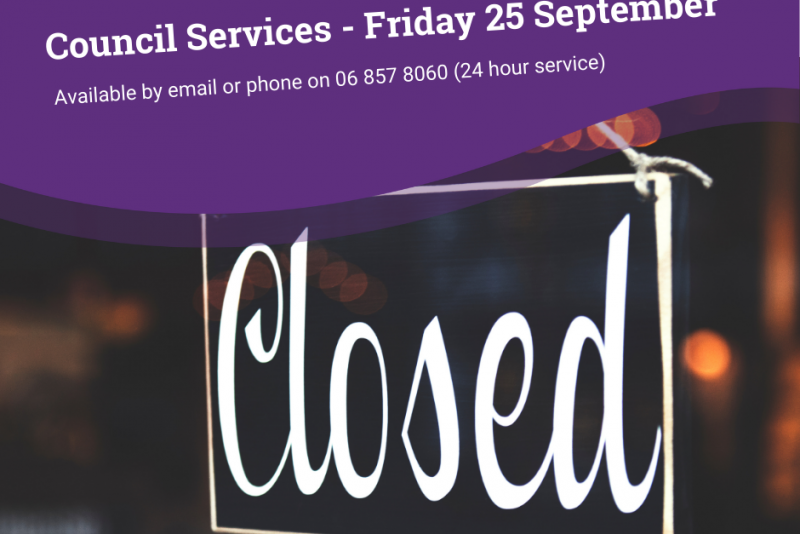 Council Services this Friday, 25 September
