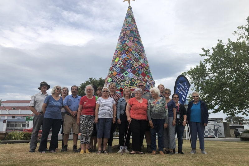 1000 Granny Squares Adorn Central Hawke's Bay's First Crochet Christmas Tree