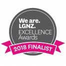 LGNZ Excellence badge 2018 FINALIST